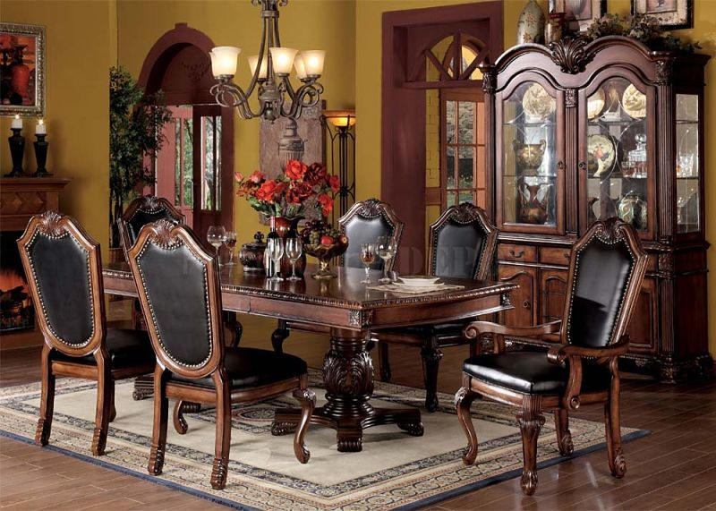 Chateau De Ville Formal Dining Room Set with Leatherette Chairs