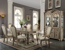 Chateau de Ville Formal Dining Room Set in Antique White