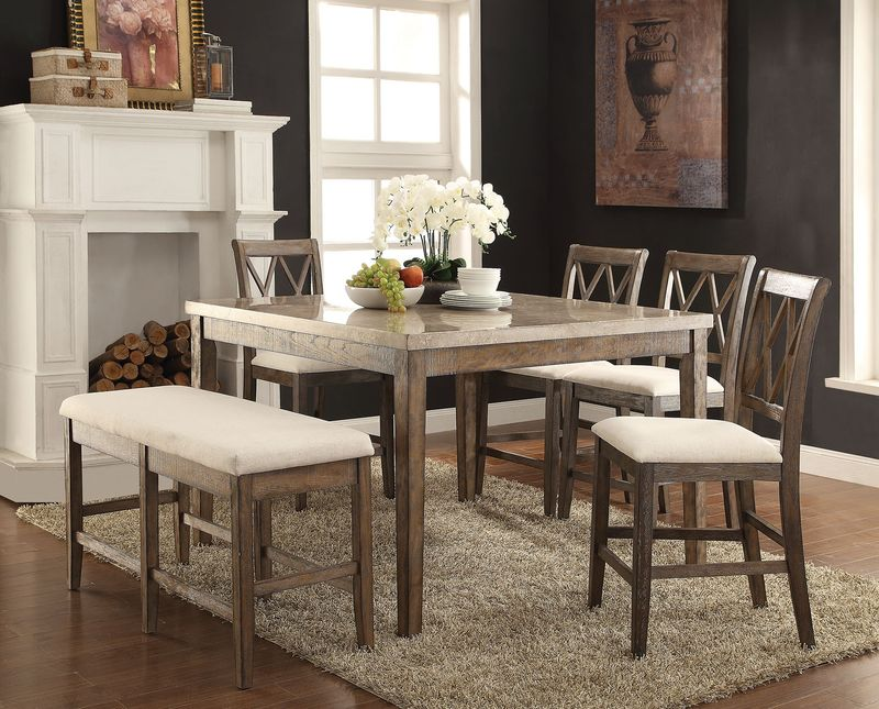Claudia Counter Height Dining Room Set