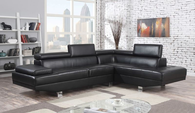Connor Sectional in Black