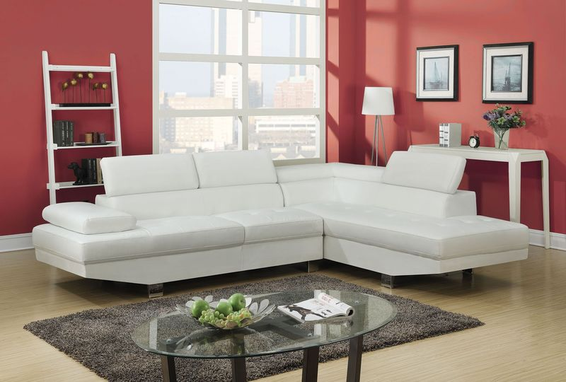 Connor Sectional in White