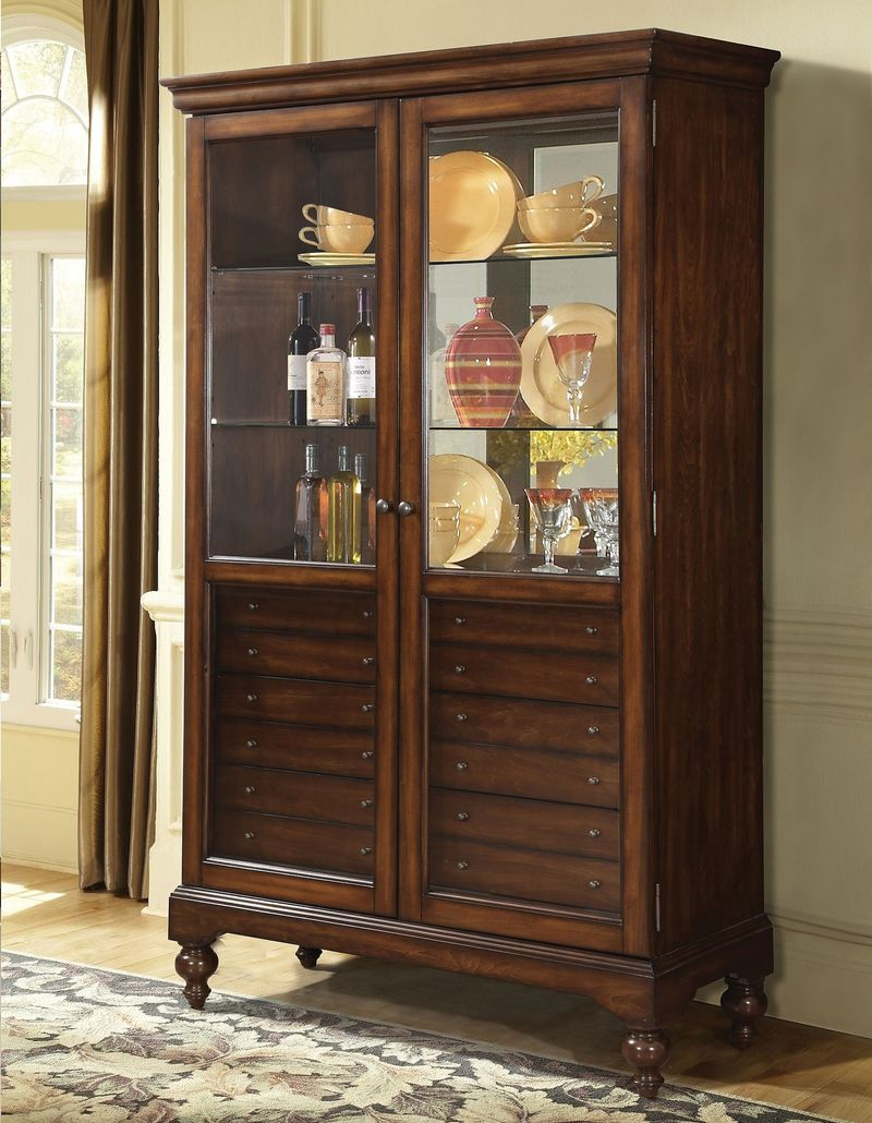 Dallin Curio Cabinet in Cherry