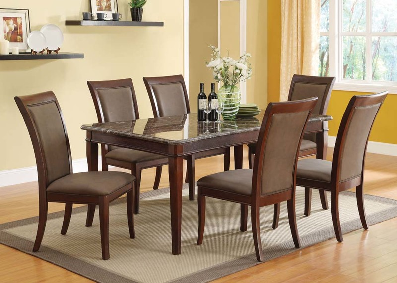 Danville Dining Room Set with Marble Table