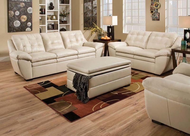 Devyn Living Room Set in Pearl