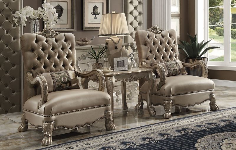 Dresden Accent Chair in Gold