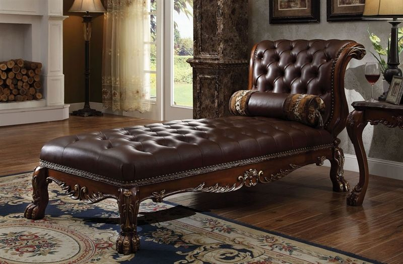 Dresden Formal Chaise in Cherry