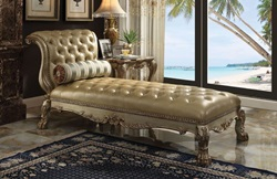 Dresden Formal Chaise in Gold