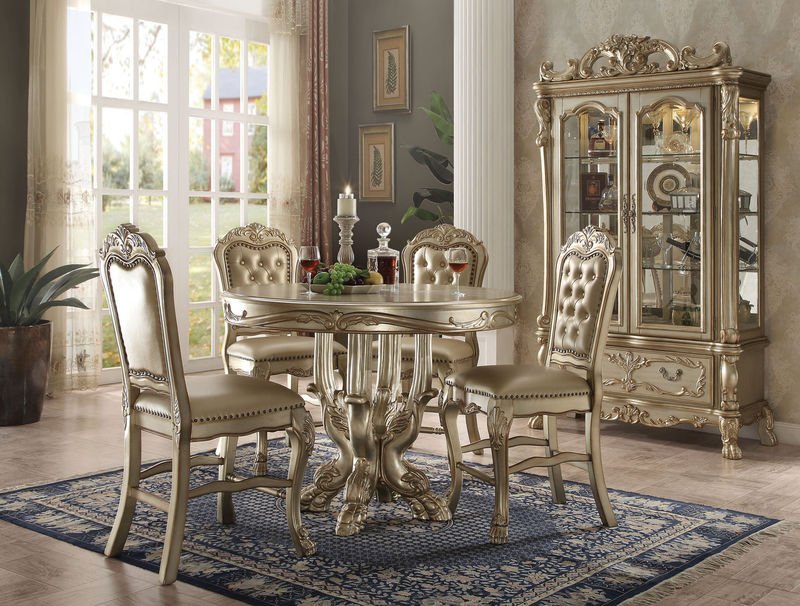 Dresden Counter Height Dining Room Set in Gold