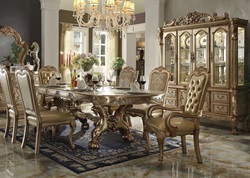 Dresden Formal Dining Room Set in Gold