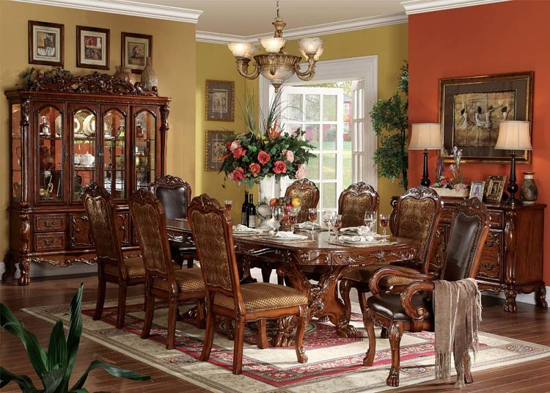 Charmant Dresden Formal Dining Room Set In Cherry ...