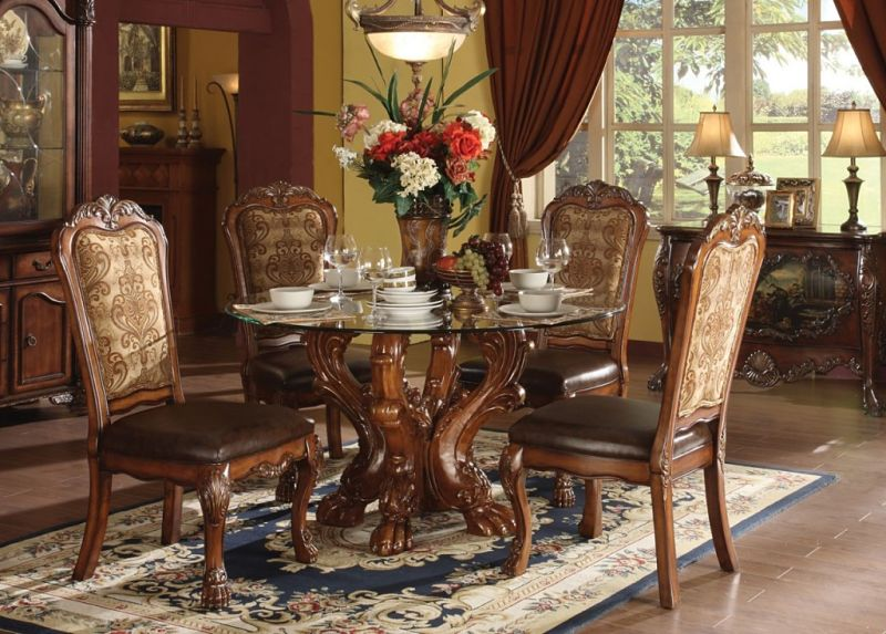 Acme 60010 Dresden Formal Dining Room Set With Round