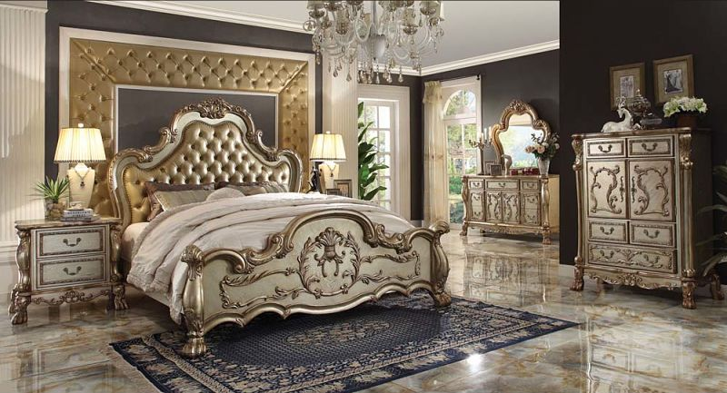 Dresden Bedroom Set in Gold