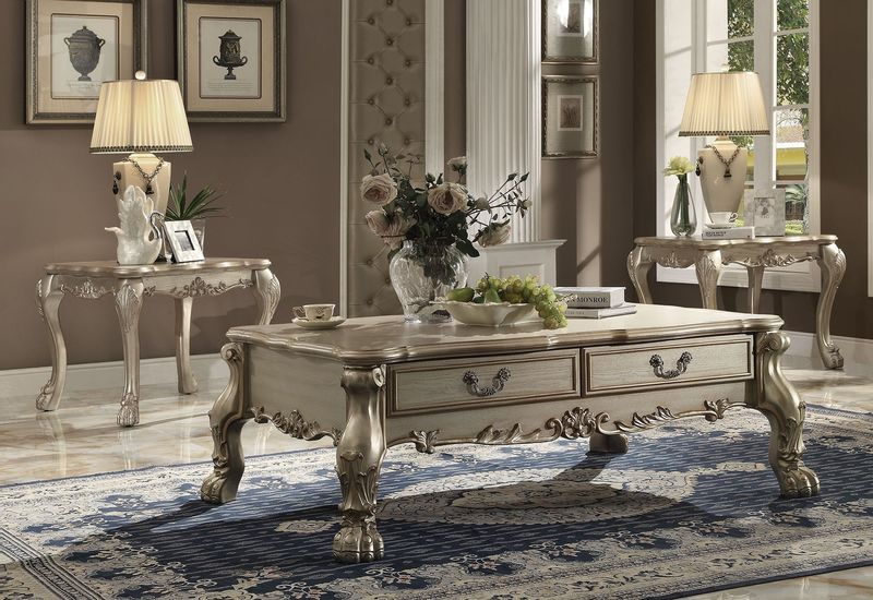Dresden Coffee Table Set in Gold