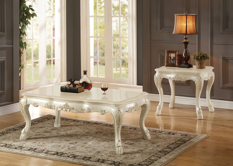 Dresden Coffee Table Set in White