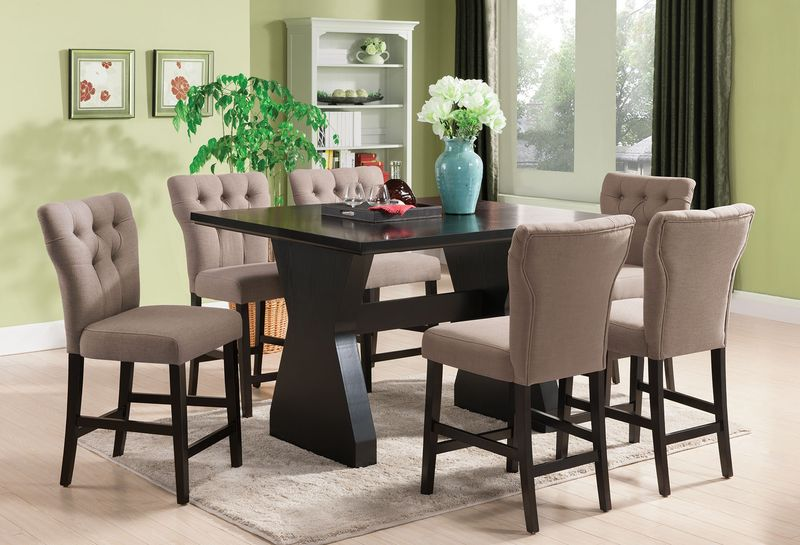 Acme 71520 71526 Effie Counter Height Dining Room Set In