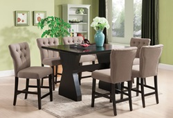 Effie Counter Height Dining Room Set in Brown