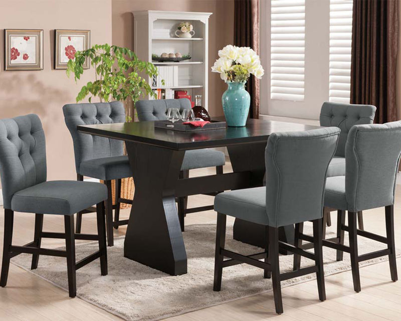 Effie Counter Height Dining Room Set in Gray