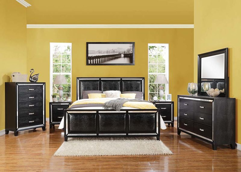 Elberte Bedroom Set with Croc Accents
