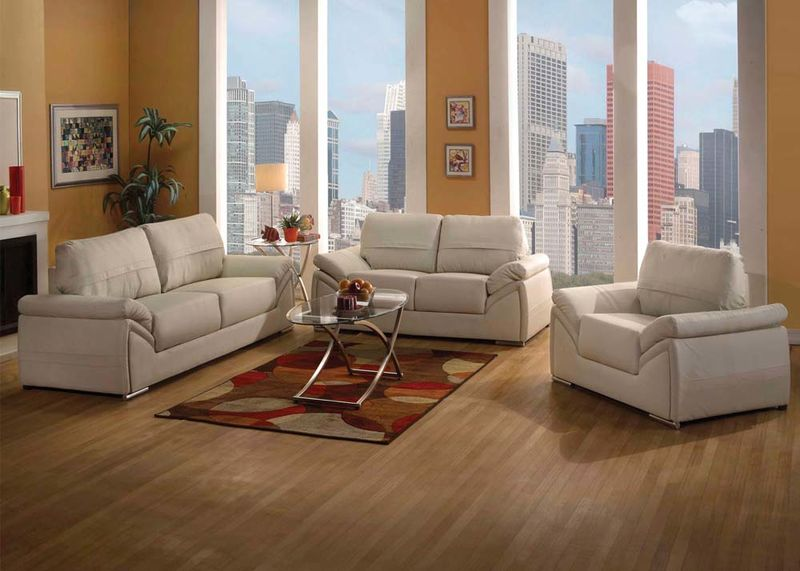 Ember Living Room Set in Ivory