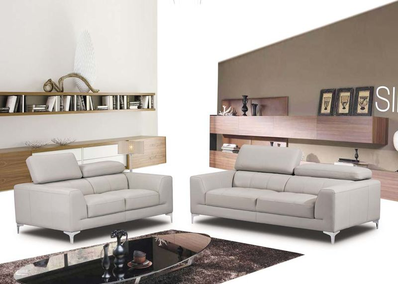 Embry Leather Living Room Set