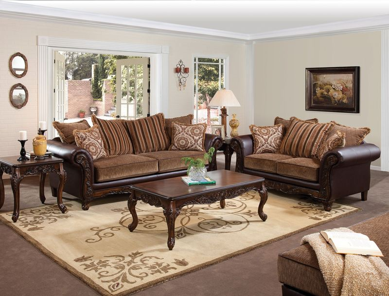 Fairfax Living Room Set in Bomber Chocolate