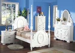 Flora Youth Bedroom Set with Poster Bed