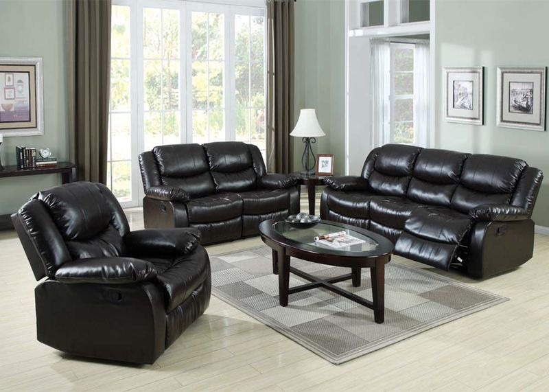 Fullerton Reclining Living Room Set in Espresso