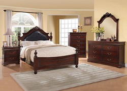 Gwyneth Bedroom Set with Upholstered Headboard