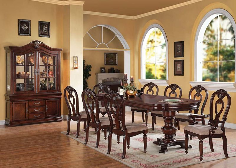 Gwyneth Formal Dining Room Set with Pedestal Table