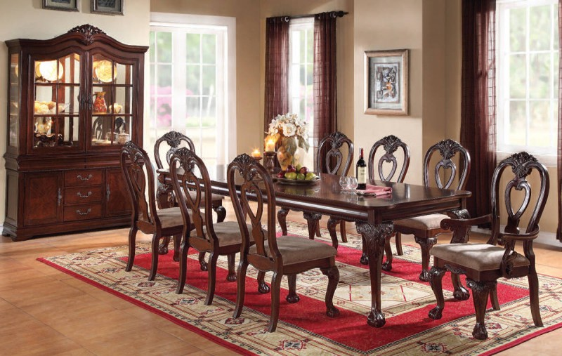 Gwyneth Formal Dining Room Set with Leg Table
