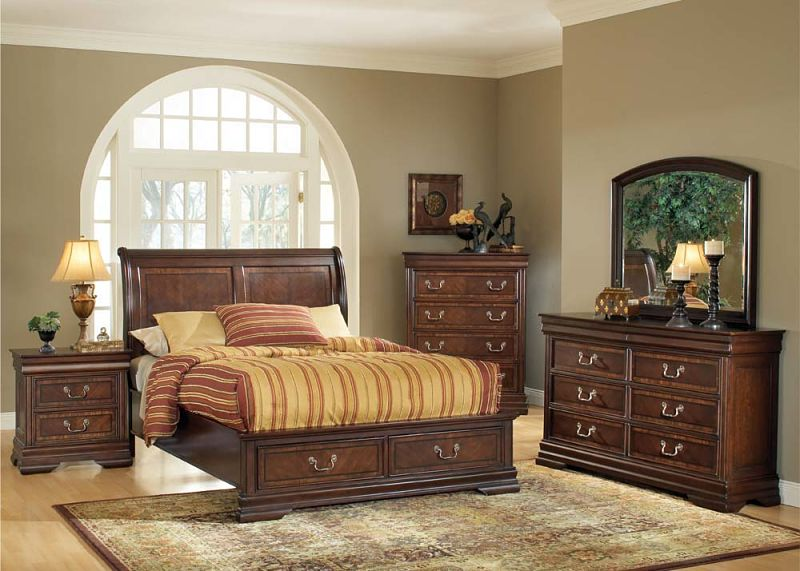 Contemporary Bedroom Set London Black By Acme Furniture: Hennessy Bedroom Set With