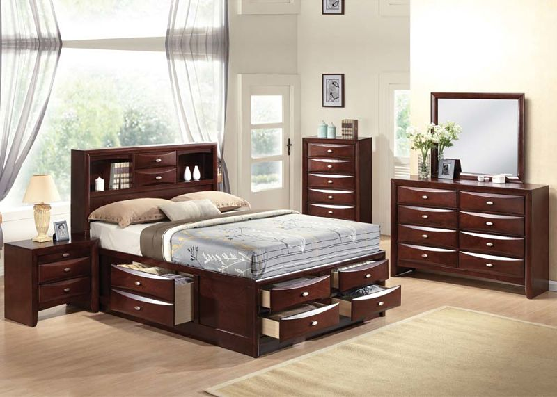 Contemporary Bedroom Set London Black By Acme Furniture: 21600Q Ireland Bedroom Set With Storage Bed In