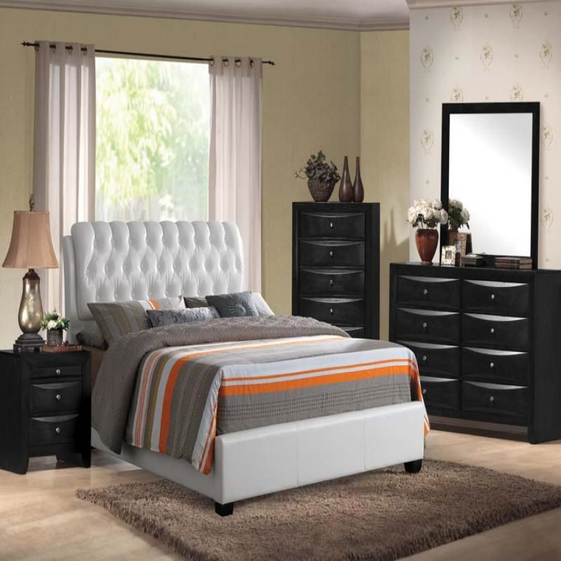 acme | 25350q ireland bedroom set with bed headboard in white