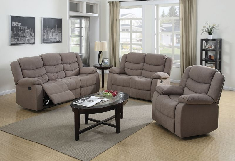 Jacinta Reclining Living Room Set in Brown