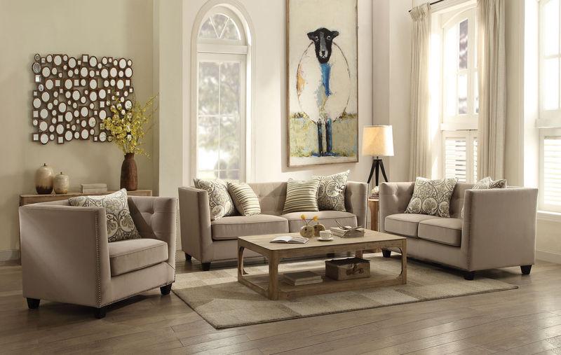 Juliana Living Room Set in Beige