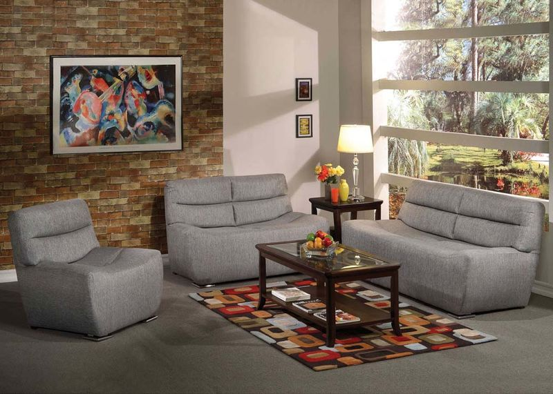 Kainda Living Room Set in Gray