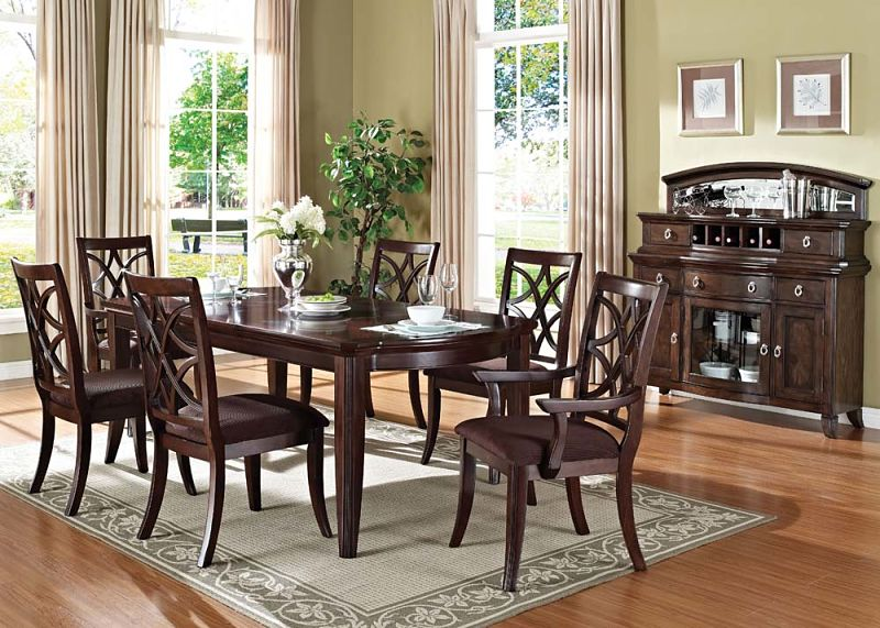 Keenan Formal Dining Room Set with Leg Table
