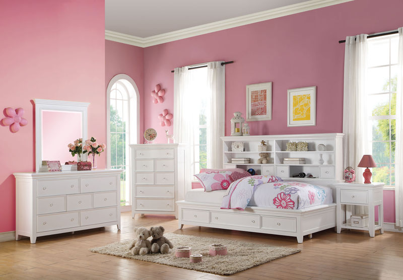 Lacey Youth Bedroom Set in White