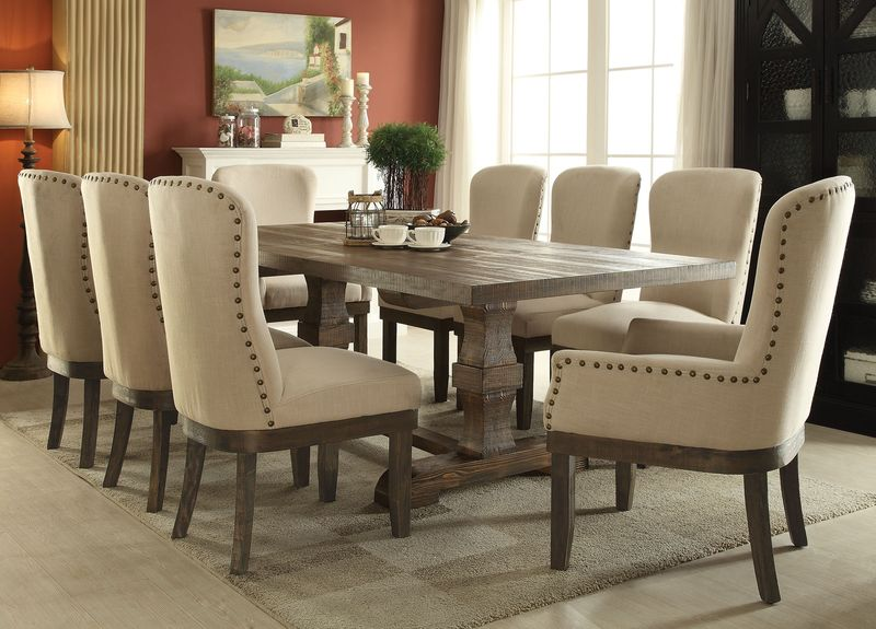 Dallas Designer Furniture | Antoinette Formal Dining Room Set with ...