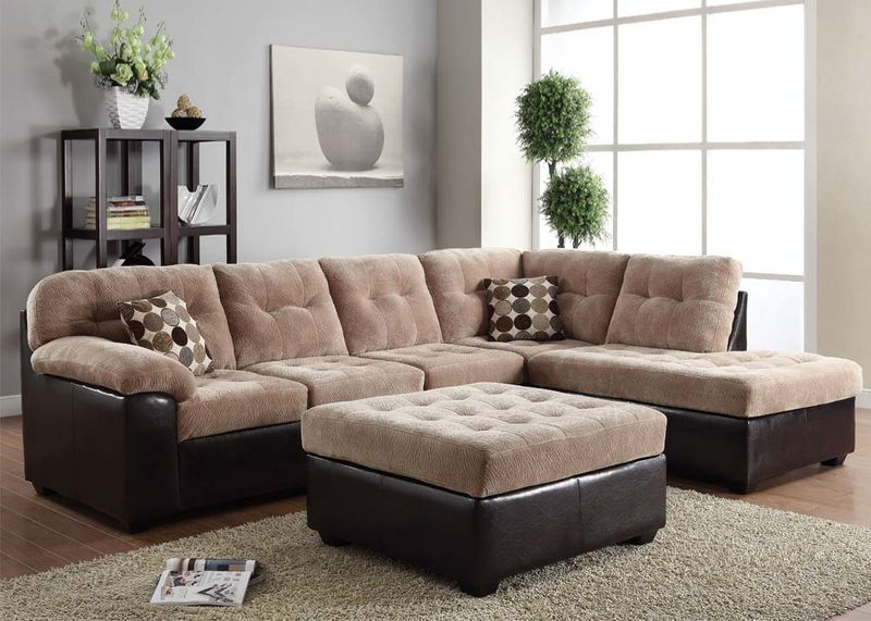 Layce Sectional in Camel