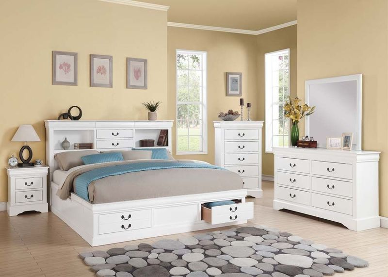 Acme 24490q Louis Philippe Bedroom Set With Storage Bed