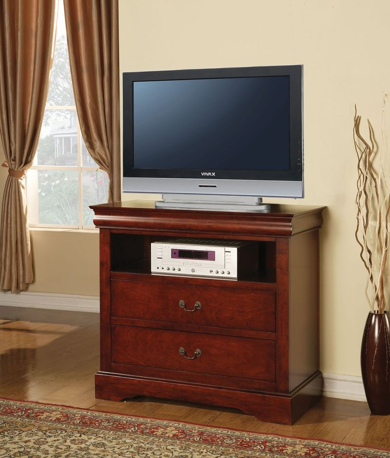 Louis Philippe Bedroom Set with Storage Bed in Cherry