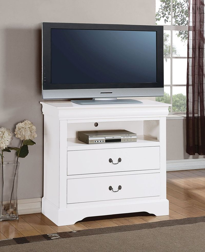 Louis Philippe Bedroom Set with Storage Bed in White