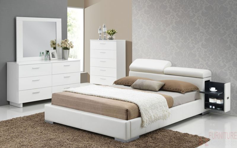 Manjot Bedroom Set in White