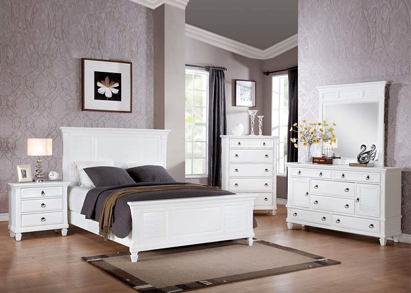 Acme 22420q Merivale Cottage Bedroom Set In White Dallas Designer Furniture