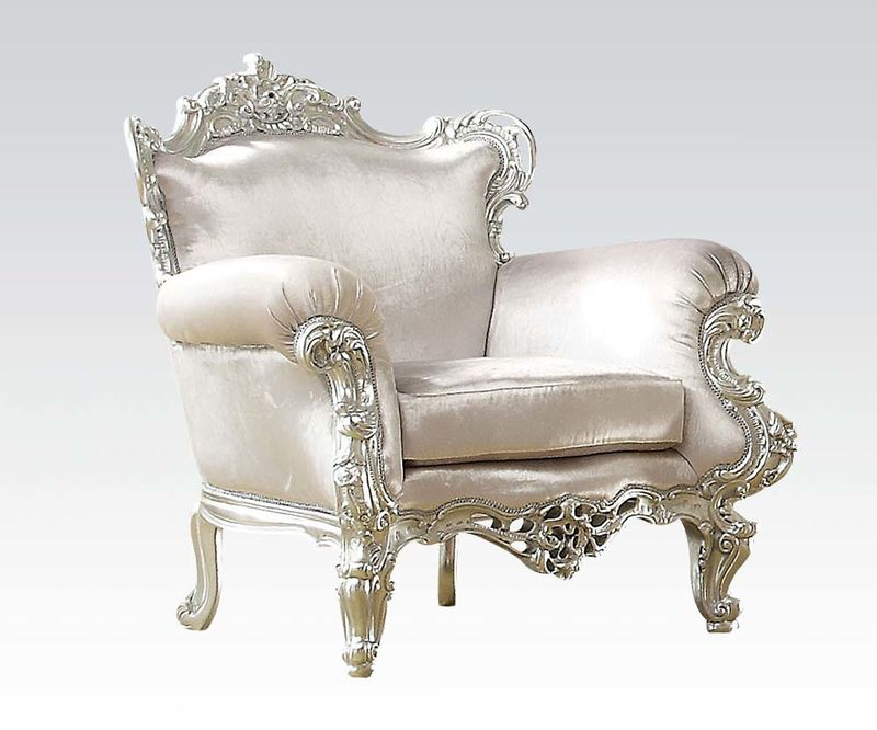 Nels Accent Chair in Silver