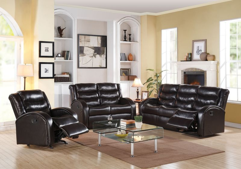 Dallas Designer Furniture Dalton Leather Living Room Set