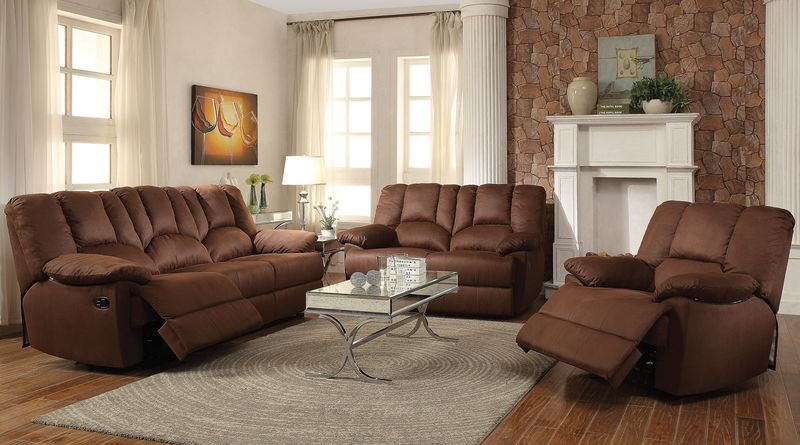 Obert Reclining Living Room Set in Nubuck