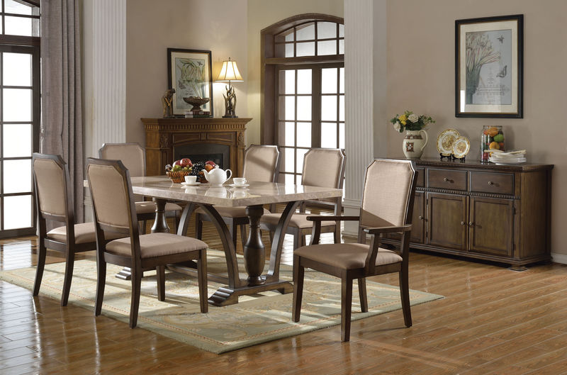 Ogden Dining Room Set with Marble Table