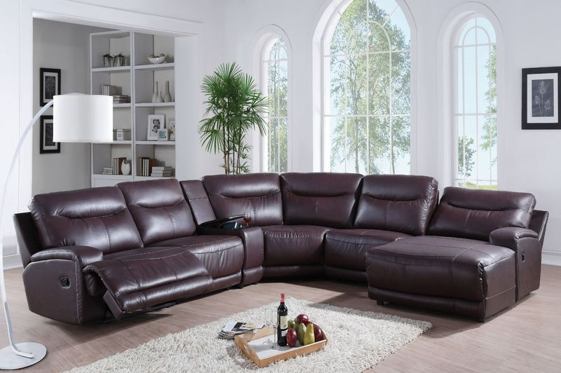 Oleta Reclining Leather Sectional